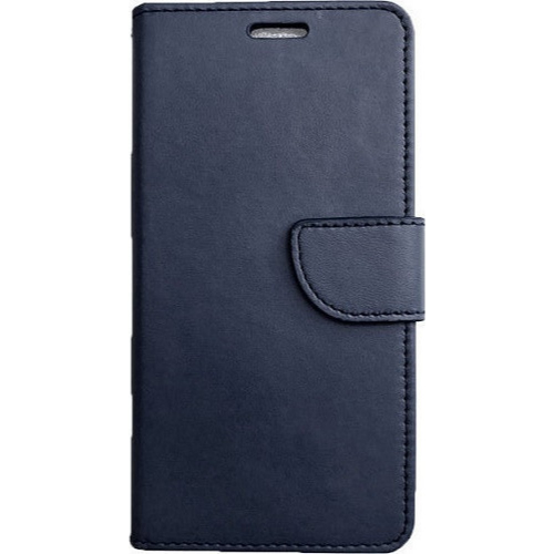 Magnet Case elegant bookcase type case with kickstand for Samsung Galaxy A12 / Galaxy M12 blue