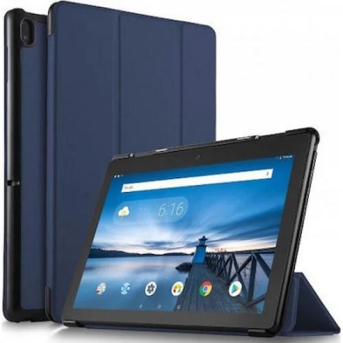 OEM Θήκη Βιβλίο - Σιλικόνη Flip Cover Για Lenovo Tab M10 HD - (X605 / X505) 10.1'' Μπλε σκούρα