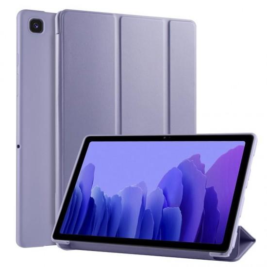 """Trifold Θήκη Βιβλίο με Σιλικόνη Flip Cover Για Samsung Galaxy Tab A7 (2020) 10.4"""" Μώβ"""