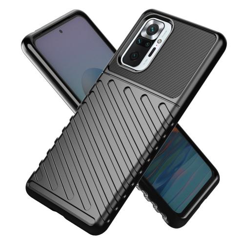Thunder Case Flexible Tough Rugged Cover Tpu Case For Xiaomi Redmi Note 10 Pro Black