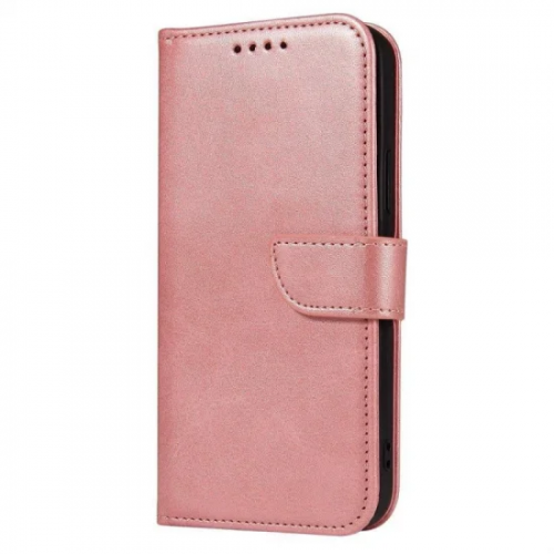 Magnet Case elegant bookcase type case with kickstand for Samsung Galaxy A12 / Galaxy M12 Pink