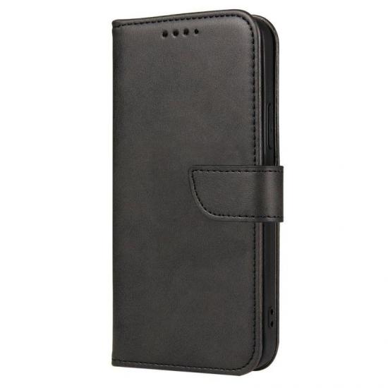 Magnet Case elegant bookcase type case with kickstand for Xiaomi Redmi Note 10 / Redmi Note 10S black