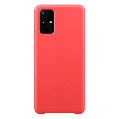 Silicone Case Soft Flexible Rubber Cover for Samsung Galaxy A02s  red