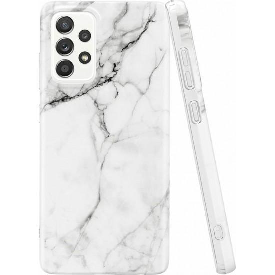 Wozinsky Marble Back Cover Σιλικόνης Άσπρη (Galaxy A52 5G / A52 4G)