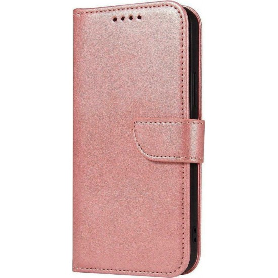 Magnet Case elegant bookcase type case with kickstand for Samsung Galaxy A72 4G / Α72 5G pink