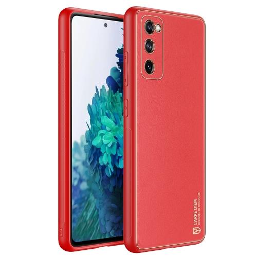Dux Ducis Samsung Galaxy A52 4G / A52 5G / A32 4G Yolo Elegant Series Θήκη με Επένδυση Συνθετικού Δέρματος - Κόκκινη