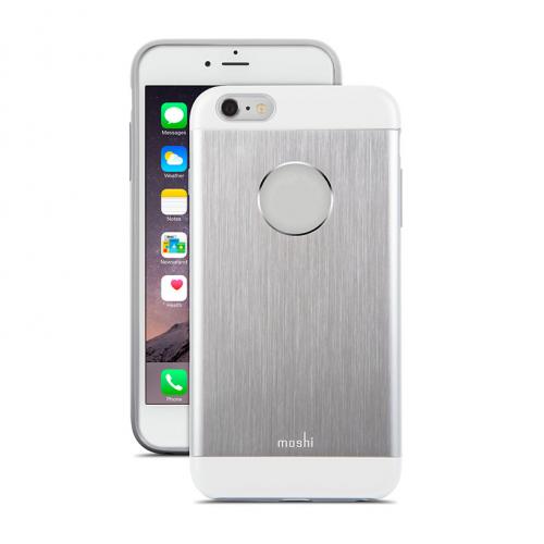 Moshi iGlaze Case Armour - Jet Silver for iPhone 6/6S Plus