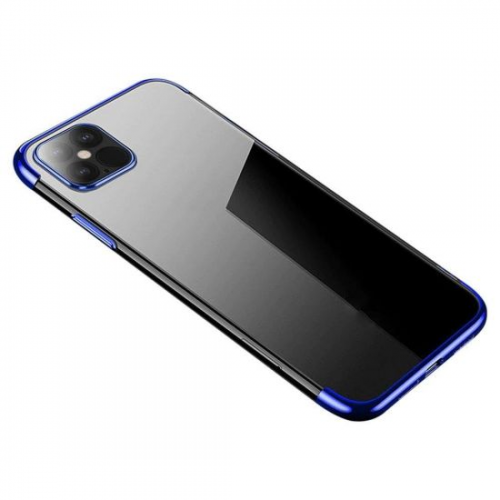 Clear Color Case Gel TPU Electroplating frame Cover for Xiaomi Mi 10T Lite / Redmi Note 9T Pro / Note 9 Pro 5G blue