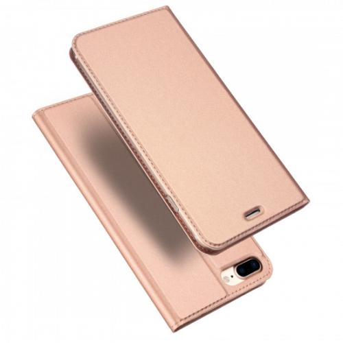 Dux Ducis iPhone 7 Plus / 8 Plus Flip Stand Case Θήκη Βιβλίο - Rose Gold