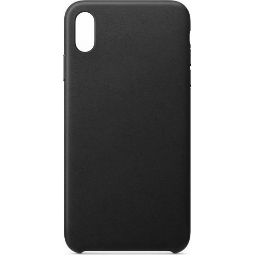 ECO Leather Back Cover Δερματίνης Μαύρο (iPhone XR)