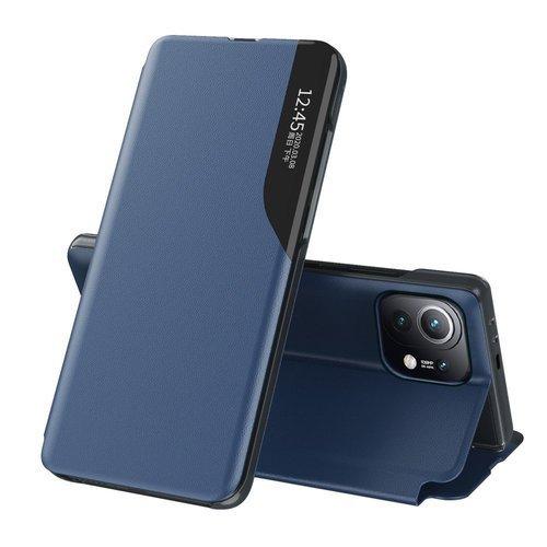 Eco Leather View Case elegant bookcase type case with kickstand for Xiaomi Mi 11 blue