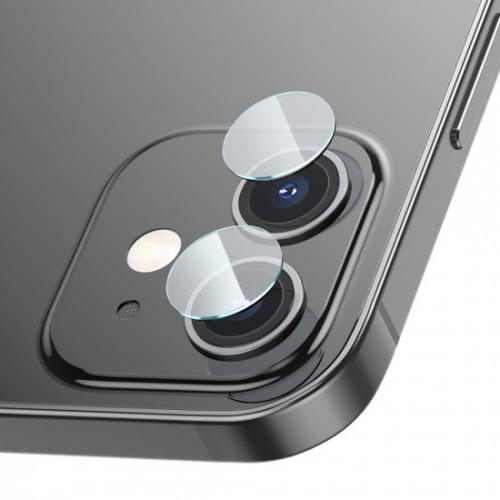 Baseus Apple iPhone 12 / iPhone 12 mini Camera Lens 3H 0.25mm Προστατευτικά Τζαμάκια για την Κάμερα - 2 Τεμάχια - Διάφανο - SGAPIPH54N-JT02
