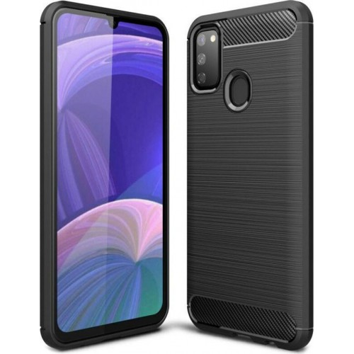 Brushed Carbon Back Cover Black (Galaxy M21 / M30s)