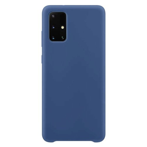Silicone Case Soft Flexible Rubber Cover for Samsung Galaxy M51 blue