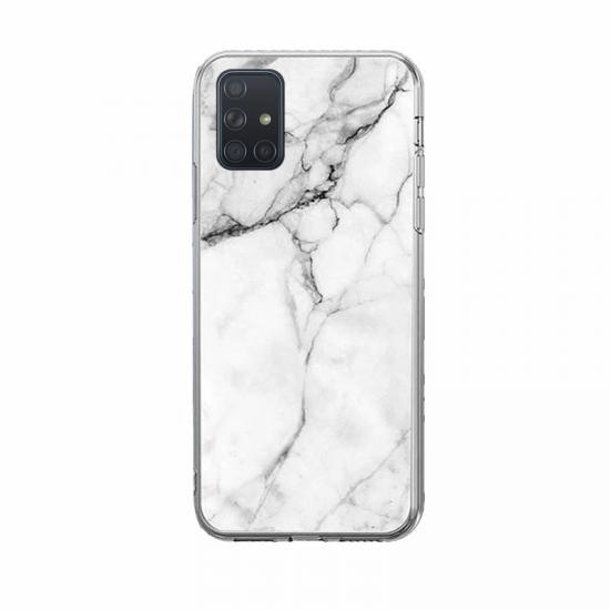 Wozinsky Marble Back Cover Σιλικόνης Λευκό (Galaxy M51)