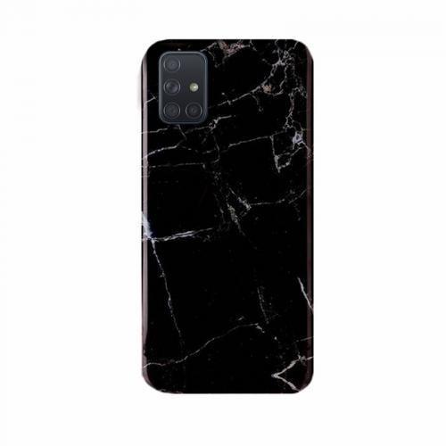 Wozinsky Marble Back Cover Black (Galaxy M51)