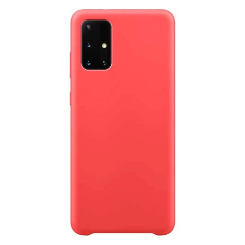 Silicone Case Soft Flexible Rubber Cover for Samsung Galaxy M51 red