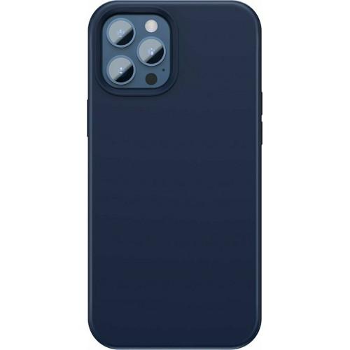 Baseus Liquid Silica Gel Magnetic Back Cover Μπλε (iPhone 12 / 12 Pro)