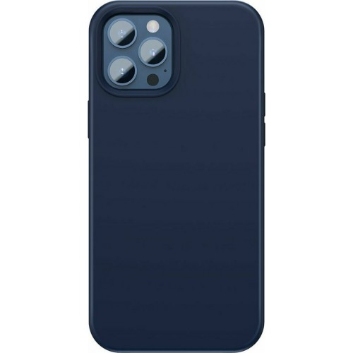 Baseus Liquid Silica Gel Magnetic Back Cover Μπλε (iPhone 12 Pro Max)