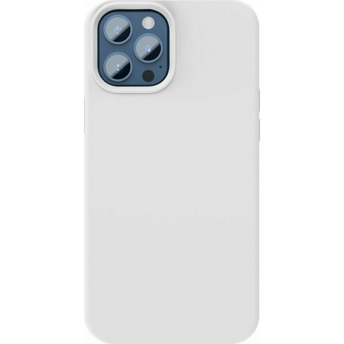 Baseus Liquid Silica Gel Magnetic Back Cover Λευκό (iPhone 12 / 12 Pro)