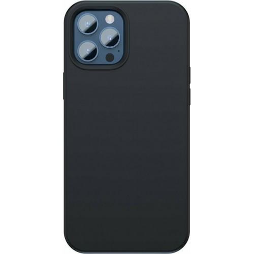 Baseus Liquid Silica Gel Magnetic Back Cover Μαύρο (iPhone 12 / 12 Pro)