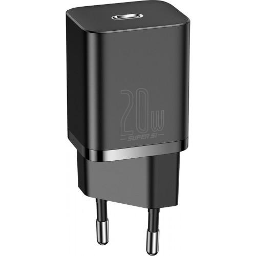 Baseus USB-C Wall Adapter Μαύρο (Super Si)