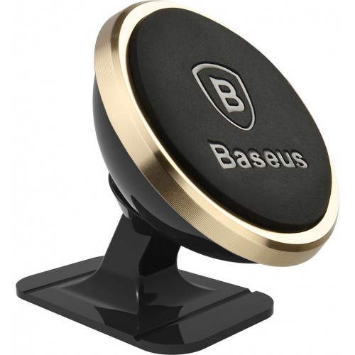 Baseus 360-Degree Rotation Mobile Car Stand with Gold Magnet