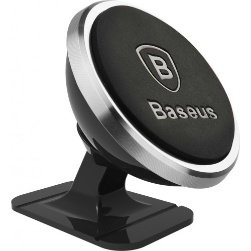 Baseus 360-Degree Rotation Mobile Car Stand with Silver Magnet