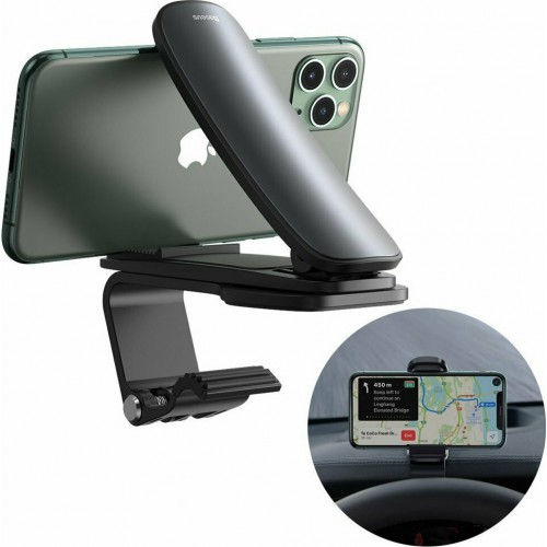 Baseus 360-Degree Rotation Mobile Car Stand with Black Magnet