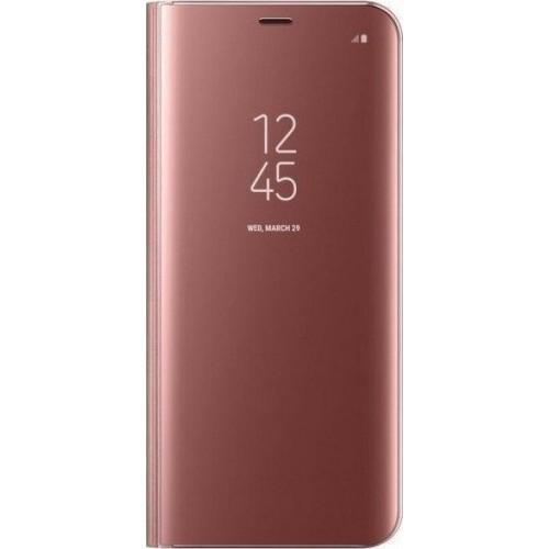 Clear View Book Πλαστικό Ροζ Χρυσό (Galaxy A52 4G / 5G)