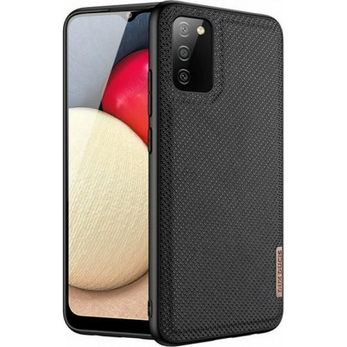 Dux Ducis Fino Back Cover Silicone / Fabric Black (Galaxy A02s)