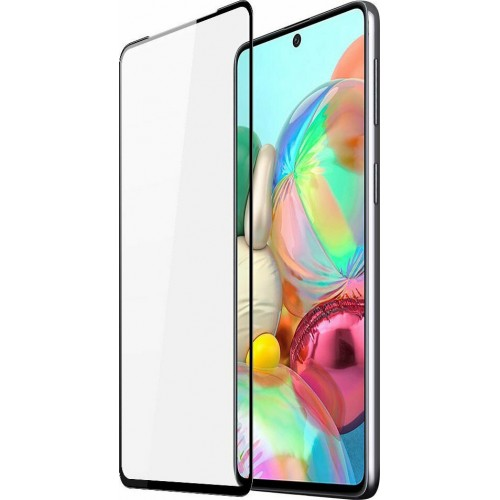Dux Ducis Full Face Tempered Glass Case Friendly Black (Galaxy A71)