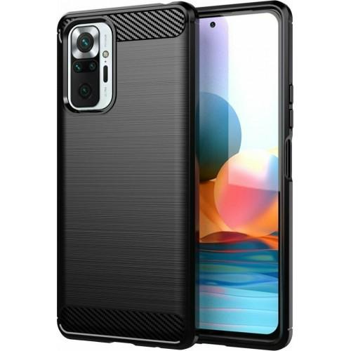 Carbon Back Cover Silicone Black (Redmi Note 10 Pro)