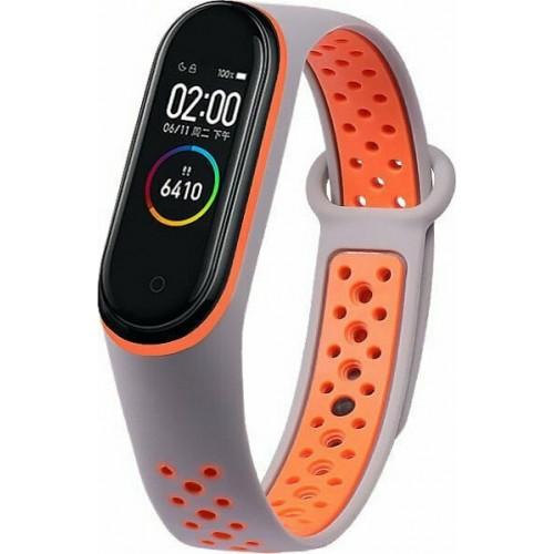 Dots Gray Orange Silicone Strap (Mi Smart Band 5 / Mi Smart Band 6)