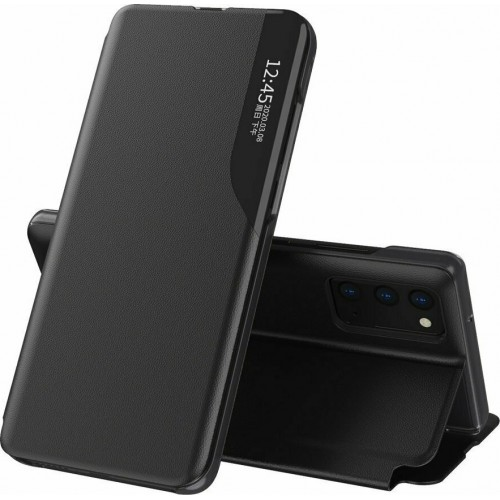 Eco Leather View Case Book Δερματίνης Μαύρο (Galaxy A32 5G)