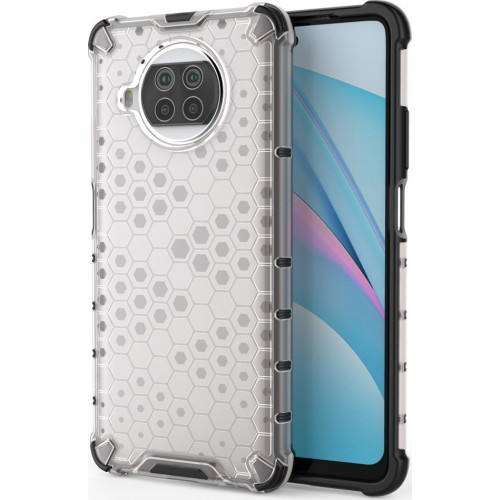 Honeycomb Back Cover Synthetic Durable Transparent (Xiaomi Mi 10T Lite / Redmi Note 9T Pro / Note 9 Pro 5G)