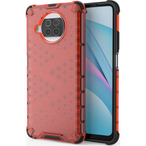 Honeycomb Back Cover Synthetic Durable Red (Xiaomi Mi 10T Lite / Redmi Note 9T Pro / Note 9 Pro 5G)