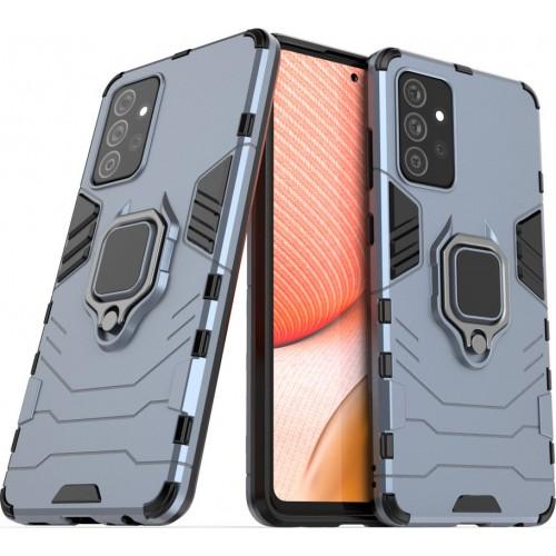 Hurtel Ring Armor Back Cover Πλαστικό Μπλε (Galaxy A72  4G / 5G)