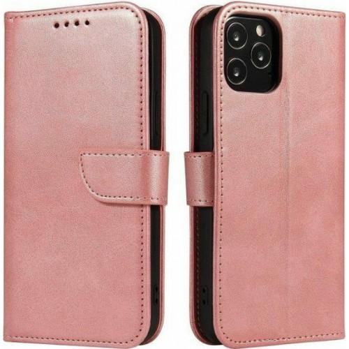 Magnet Elegant Wallet Δερματίνης Ροζ (Galaxy A50)