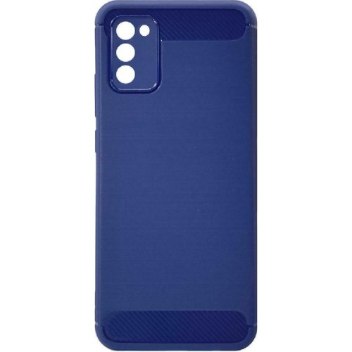 Carbon Back Cover Σιλικόνης Μπλε (Galaxy A02s)