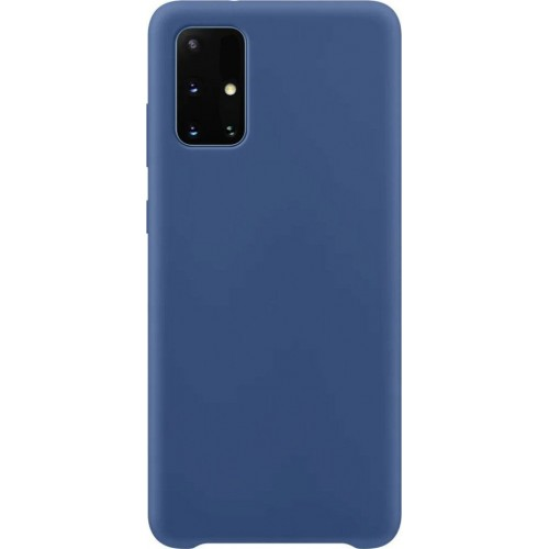Silicone Velvet Back Cover Μπλε (Galaxy A71)