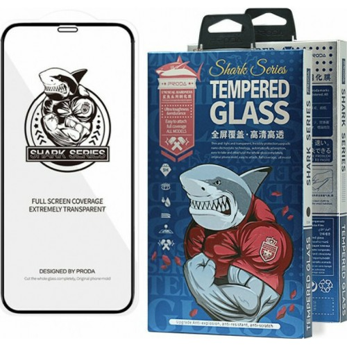 Proda Shark Full Face Tempered Glass Black (iPhone 12 mini)