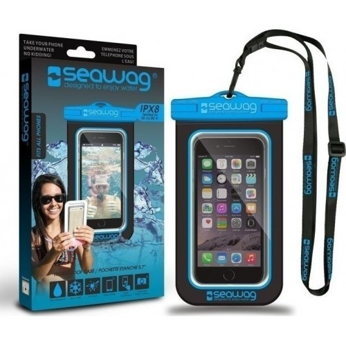 Seawag Universal Αδιάβροχη Θήκη Πουγκί για Smartphones έως 6.7'' (SEAWAG_B2X) Black / Blue