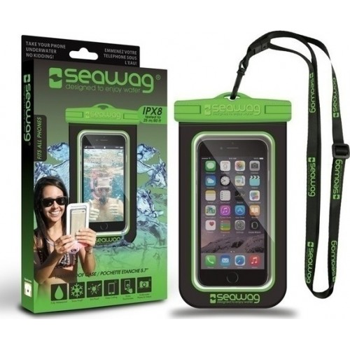 Seawag Universal Αδιάβροχη Θήκη Πουγκί για Smartphones έως 6.7'' (SEAWAG_B4X) Black / Green
