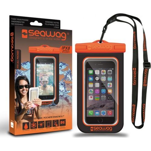 "Seawag Universal Αδιάβροχη Θήκη για Smartphones έως 6,7""  (SEAWAG_B5X) - Black/Orange"
