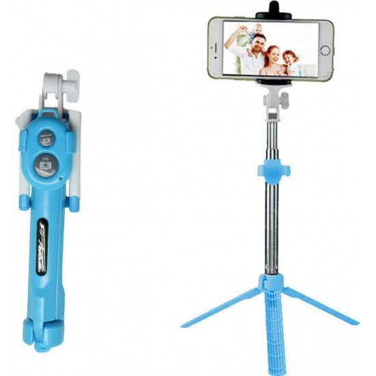 Selfie Stick Bluetooth Tripod Black