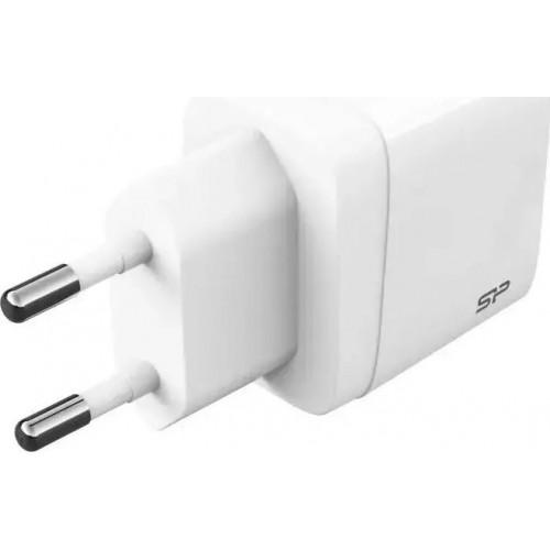Silicon Power USB-A & USB-C Wall Adapter Λευκό (QM15)