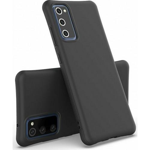 Soft Color Flexible Back Cover Silicone Black  (Galaxy M51)