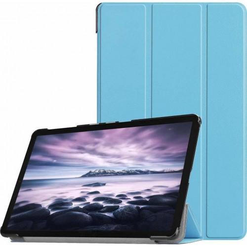 "Trifold Θήκη Βιβλίο με Σιλικόνη Flip Cover Για Samsung Galaxy Tab A7 (2020) 10.4"" Γαλάζια"