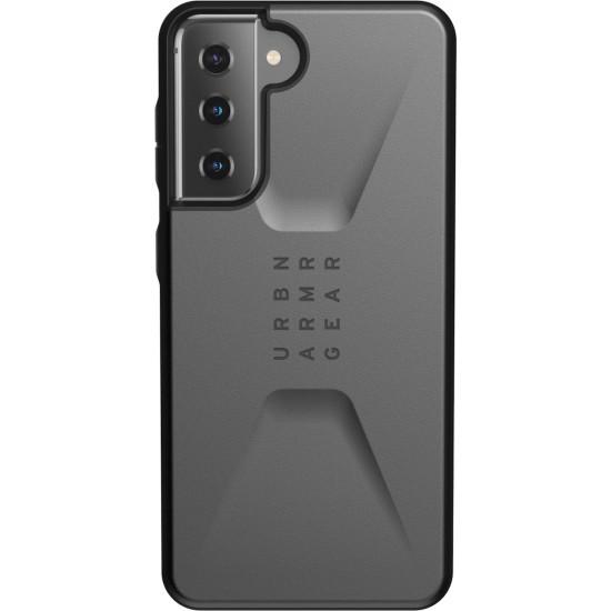 UAG Civilian Back Cover Πλαστικό Ανθεκτική Ασημί (Galaxy S21 5G)